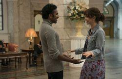 "Himesh Patel et Lily James dans ""Yesterday"""