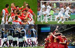 Revivez le parcours des 4 équipes demi-finalistes de la Coupe du monde 2018