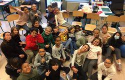 Classe niouzz de l'école des Pagodes à Bruxelles