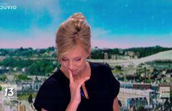 Émue, Nathalie Maleux craque pendant le JT
