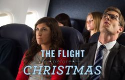 "Mayim Bialik dans ""The flight before Christma"""
