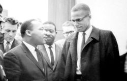 Martin Luther King et Malcolm X