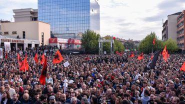Kosovo: manifestation contre un échange de territoires avec la Serbie