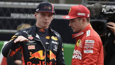 Max Verstappen et Charles Leclerc
