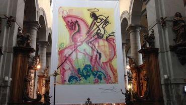 Saint-Georges et le dragon : la toile de 5m sur 7 devra être détruite. Si vous avez une idée, venez la proposer