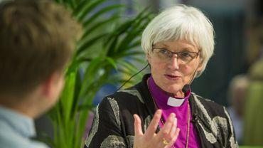 Antje Jackelen, 65 ans,  première archevêque femme de Suède, élue en 2013