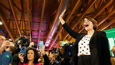 La sénatrice démocrate Amy Klobuchar, le 2 février 2020 à Johnston (Iowa)