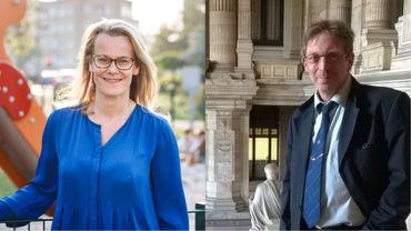 Tête de liste MR à Woluwe-Saint-Lambert, Amélie Pans (à gauche), a déposé plainte ce lundi soir à l'encontre de Philippe Latteur, tête de liste pour le parti Islam dans la même commune bruxelloise.