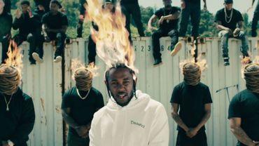 """""""Kendrick Lamar"""" dans le clip de """"HUMBLE"""" issu de son nouvel album """"DAMN"""""""