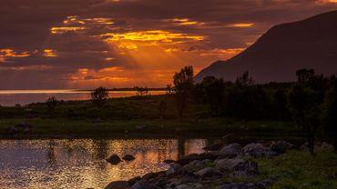 Le soleil de minuit en Norvège