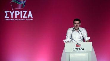 Le Premier ministre grec Alexis Tsipras lors du comité central de son parti Syriza, à Athènes le 30 juillet 2015