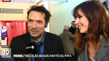 Nicolas Bedos et Doria Tillier étaient en direct de Mons dans le journal télévisé