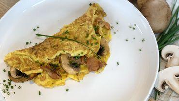 Dans votre assiette ce soir: une omelette aux champignons des bois
