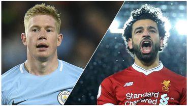 Qui de De Bruyne ou Salah remportera le titre de meilleur joueur de Premier League ?