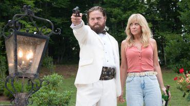 """Kristen Wiig et Zach Galifianakis dans """"Les Cerveaux"""""""