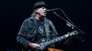 Neil Young à Québec lors du Festival d'été, le 6 juillet 2018.