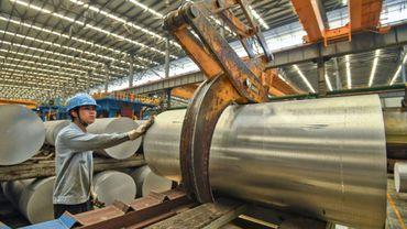 Dans une usine de production d'aluminium à Nanning, dans la région de Guangxi, le 10 avril 2019