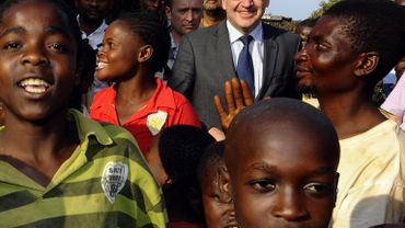 Steven Vanackere lors de sa visite au Congo, le 01/06/2011