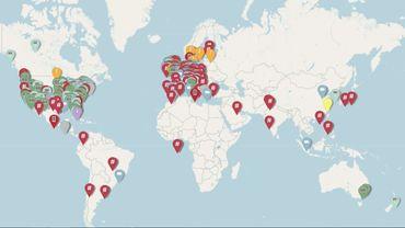 Une carte interactive répertorie toutes les initiatives digitales lancées par les musées du monde entier face à la pandémie.