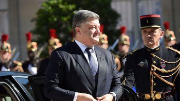 Le président ukrainien Petro Porochenko, à Paris le 2 octobre 2015.