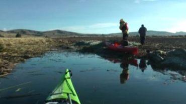 Un Belge vient de faire le tour du lac Titicaca en kayak