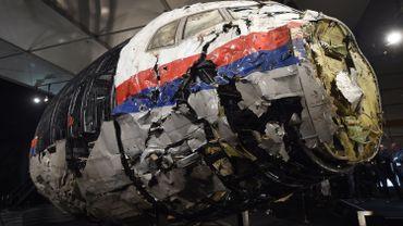 Les débris du cockpit reconstitué par les enquêteurs ont été présentés en octobre 2015.