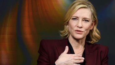 Cate Blanchett au Forum de Davos en janvier 2018