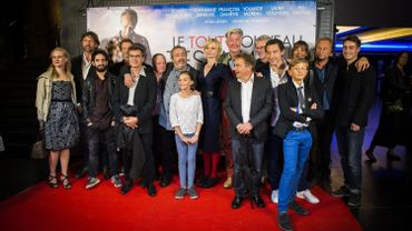 """L'équipe du """"Tout nouveau testament"""" lors de la première bruxelloise du film"""