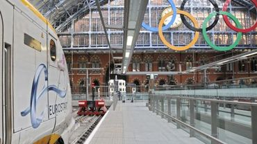 La gare Saint-Pancrace à Londres