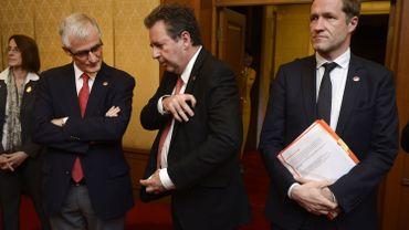 Les ministres-président Bourgeois, Vervoort et Magnette. Les rapports de force économique se stabilisent entre les trois régions