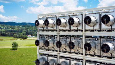 Les installations de Climeworks à Hinwil (Suisse)