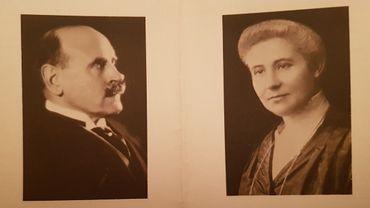 Henri Carton de Wiart (à gauche) Juliette Verhaegen / Mme Carton de Wiart (à droite).