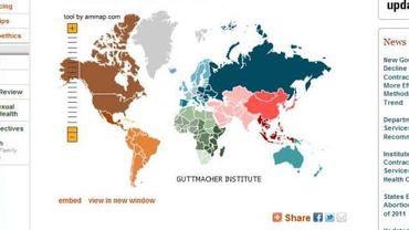 La carte des avortements dans le monde