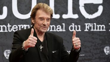 Johnny Hallyday au Beaune International Thriller Film Festival, le 2 avril 2014.