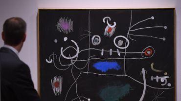 Le mangeur de gigot de Joan Miro, lors d'une vente chez Sotheby's en mai 2014