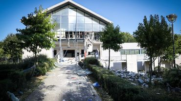 Le centre sportif dévasté par l'explosion