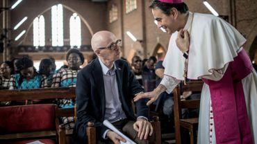 Bart Ouvry à la cathédrale Notre-Dame-de-Kinshasa, avant de prendre l'avion vers la Belgique