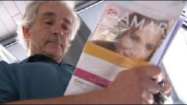 Michel et son catalogue Damart