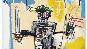 """""""Warrior"""" de Jean-Michel Basquiat a dépassé son estimation haute de 320 millions de dollars hongkongais pour atteindre 323,6 millions de dollars hongkongais."""