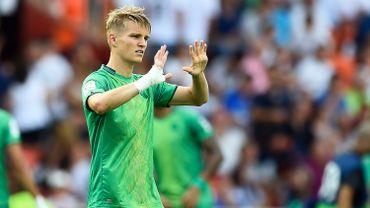 Martin Odegaard a marqué le but de la victoire pour la Real Sociedad en demi-finale aller de la Coupe du Roi contre Mirandes