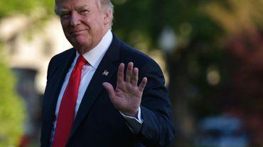 Le président américain Donald Trump à Washington, le 19 avril 2017