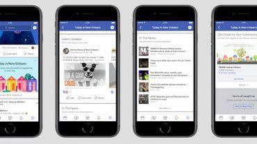 Facebook a commencé à proposer un fil d'actualité local dans 400 villes américaines
