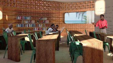 Fermes verticales, murs imprimés en 3D... L'ouverture de cette école d'un nouveau genre est prévue pour l'été 2021-2022 à Madagascar.