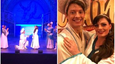 Aladin demande Jasmine en mariage pour de vrai !