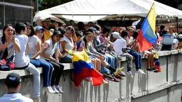 Des manifestants anti-gouvernementaux, le 16 juillet 2017 à Caracas