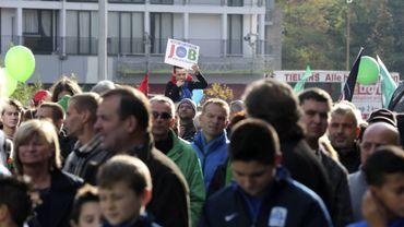 Manifestation à Genk, en novembre, après l'annonce de Ford Europe de fermer l'usine en 2014.