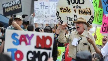 La contestation, contre les OGM s'amplifie. Aux USA, le Connecticut est le premier Etat à voter une loi sur l'étiquetage des produits contenant des ogm (photo d'illustration)