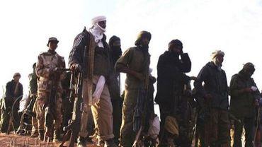 Des rebelles touareg du Mouvement national pour la libération de l'Azawad (MNLA), dans un endroit non déterminé en février 2012