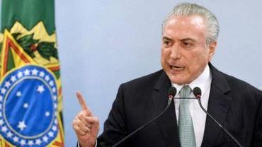 """Crise politique au Brésil - """"Je ne démissionnerai pas"""", affirme le président Temer"""