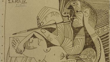 """""""Le Peintre et son modèle IV"""" par Pablo Picasso (estimation : 300.000 – 400.000 €)"""
